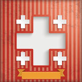 Vintage Background Hospital Cross Royalty Free Stock Photography