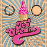 Vintage background with ice cream and inscriptions Stock Photography