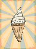Vintage background with icecream Stock Photography