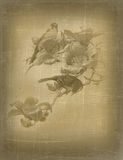 Vintage background with image. Royalty Free Stock Photo