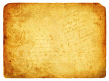 Vintage background image with roses. Old postcard. Royalty Free Stock Photos