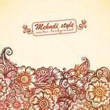 Vintage background in Indian henna mehndi style Royalty Free Stock Photography
