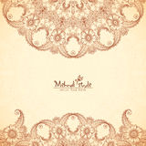Vintage background in Indian henna tattoo style Royalty Free Stock Photo