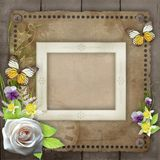 Vintage background for invitation Stock Images