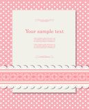 Vintage background for invitation card vector Royalty Free Stock Images