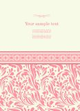 Vintage background for invitation card vector Stock Photography