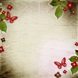 Vintage background. For invitation or congratulation stock image