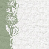 Vintage background for the invitation with flowers Royalty Free Stock Image