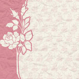 Vintage background for the invitation with flowers Stock Photography