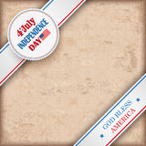 Vintage Background 4 July US Flag Ornaments Royalty Free Stock Photos