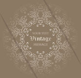 Vintage background with lace decoration Stock Photography