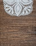 Vintage background with lace on the old wood Stock Photography