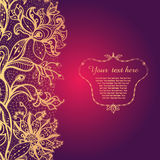 Vintage background with lace ornament. Royalty Free Stock Photography