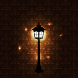 Vintage background with lantern vector Stock Photos
