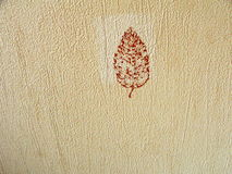 Vintage background with leaf Stock Image