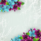 Vintage Background With Lilac Flowers Royalty Free Stock Photo