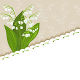 Vintage background with lilies of the valley Stock Images