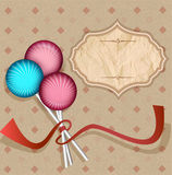 Vintage background with  lollipops Stock Photography