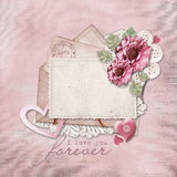 Vintage background with love card Stock Images