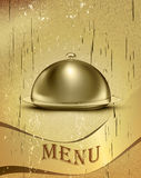 Vintage background with menu items Royalty Free Stock Image