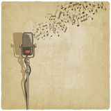 Vintage background with microphone Stock Photography