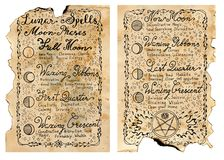 Worn pages of old book with magic spells Stock Images