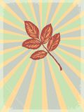 Vintage background with motive of autumn Stock Photography