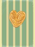 Vintage background with motive of bakery Royalty Free Stock Photo