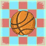 Vintage background with motive of basketball Royalty Free Stock Images