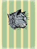 Vintage background with motive of pets Royalty Free Stock Photography