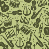 Vintage background with music instruments Stock Image