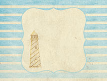 Vintage background in nautical style Royalty Free Stock Images