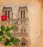 Vintage background with Notre Dame Royalty Free Stock Photography