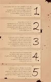 Vintage background number options banners Stock Photos