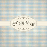 Vintage background with Oktoberfest pattern and patch O'zapft is Stock Photo