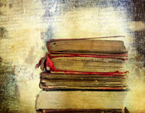 Vintage background with old books Stock Photos