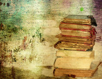 Vintage background with old books Stock Photo