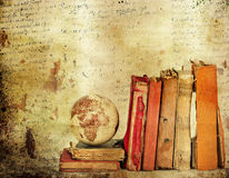 Vintage background with old books Royalty Free Stock Photography