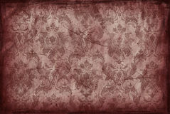 Vintage background from old brown wallpaper Stock Photography