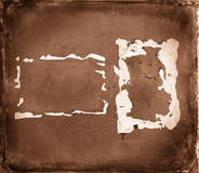 Vintage background old brown walls Royalty Free Stock Photography