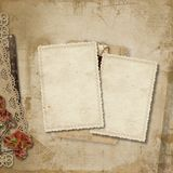 Vintage background with old cards Royalty Free Stock Image