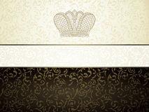Vintage background. With old crown Stock Images