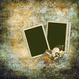Vintage background with old frame Royalty Free Stock Photo