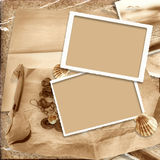Vintage background with old frame Stock Image