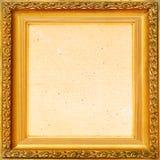 Vintage background old frame, gold leaf Stock Photography