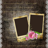 Vintage background with old frames Stock Photo