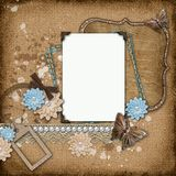 Vintage background with old frames Stock Image