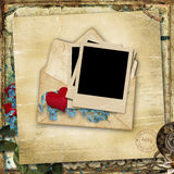 Vintage background with old love card Royalty Free Stock Photos