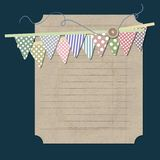Vintage background with old paper. Vintage background illustration with old paper Royalty Free Stock Photo