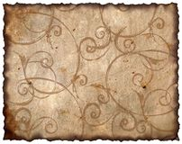 Vintage background - old paper. Victoriann style, design Stock Photography